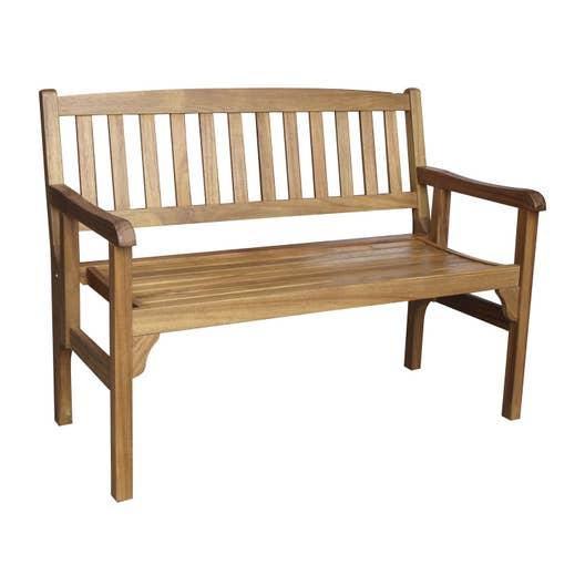 Banc 2 places de jardin en bois porto brun leroy merlin - Bac de jardin en bois ...