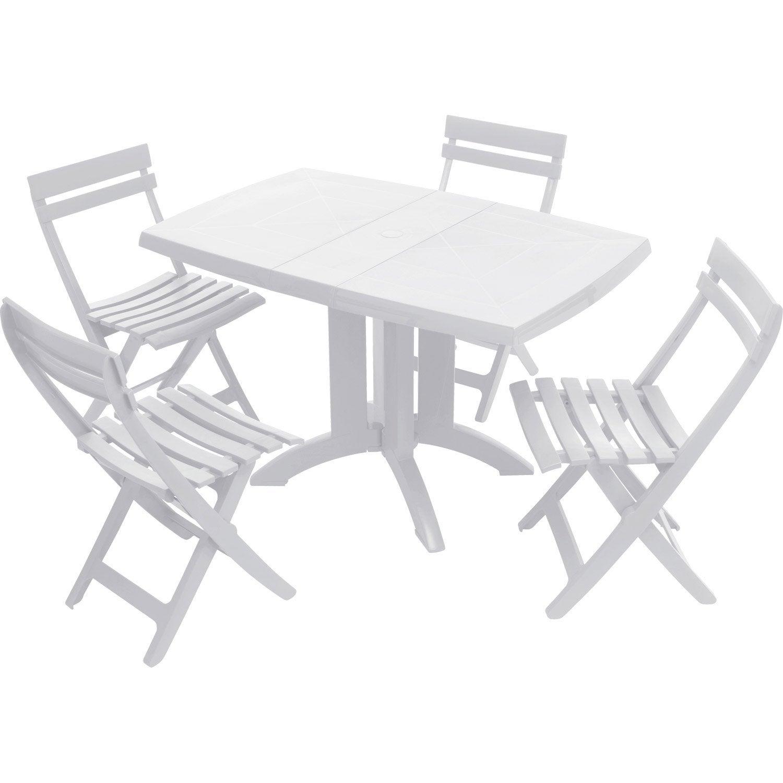 De Jardin Table Grosfillex Véga Blanc 4 Rectangulaire ...