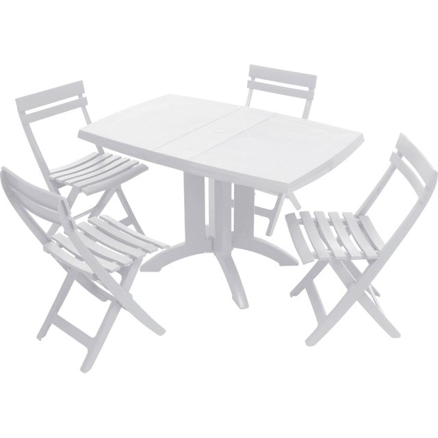 Table de jardin GROSFILLEX Véga rectangulaire blanc 4 personnes