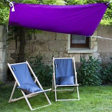 Voile d 39 ombrage toile tendue terrasse jardin leroy merlin - Prix voile d ombrage ...