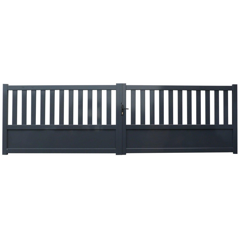 Lame aluminium pour portail portail alu battant kero with lame aluminium pour portail portail - Lame pvc pour portail ...