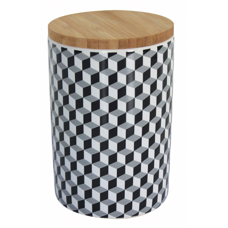 Boîte céramique noir blanc