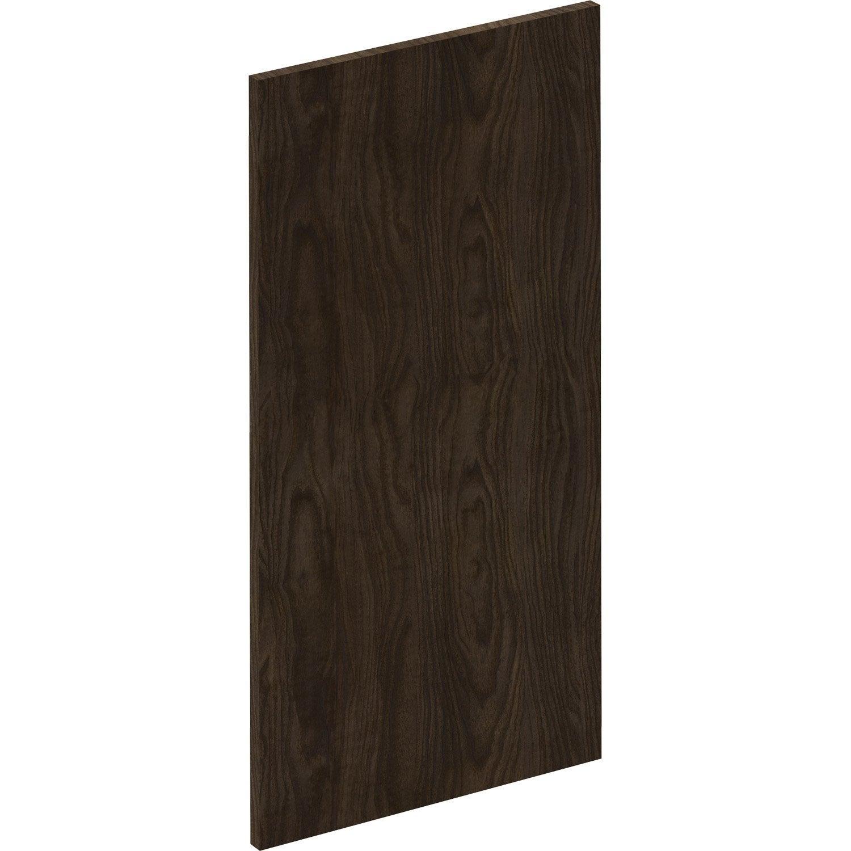 Porte de cuisine Siena effet bois foncé, DELINIA ID H.76.5 x l.39.7 cm