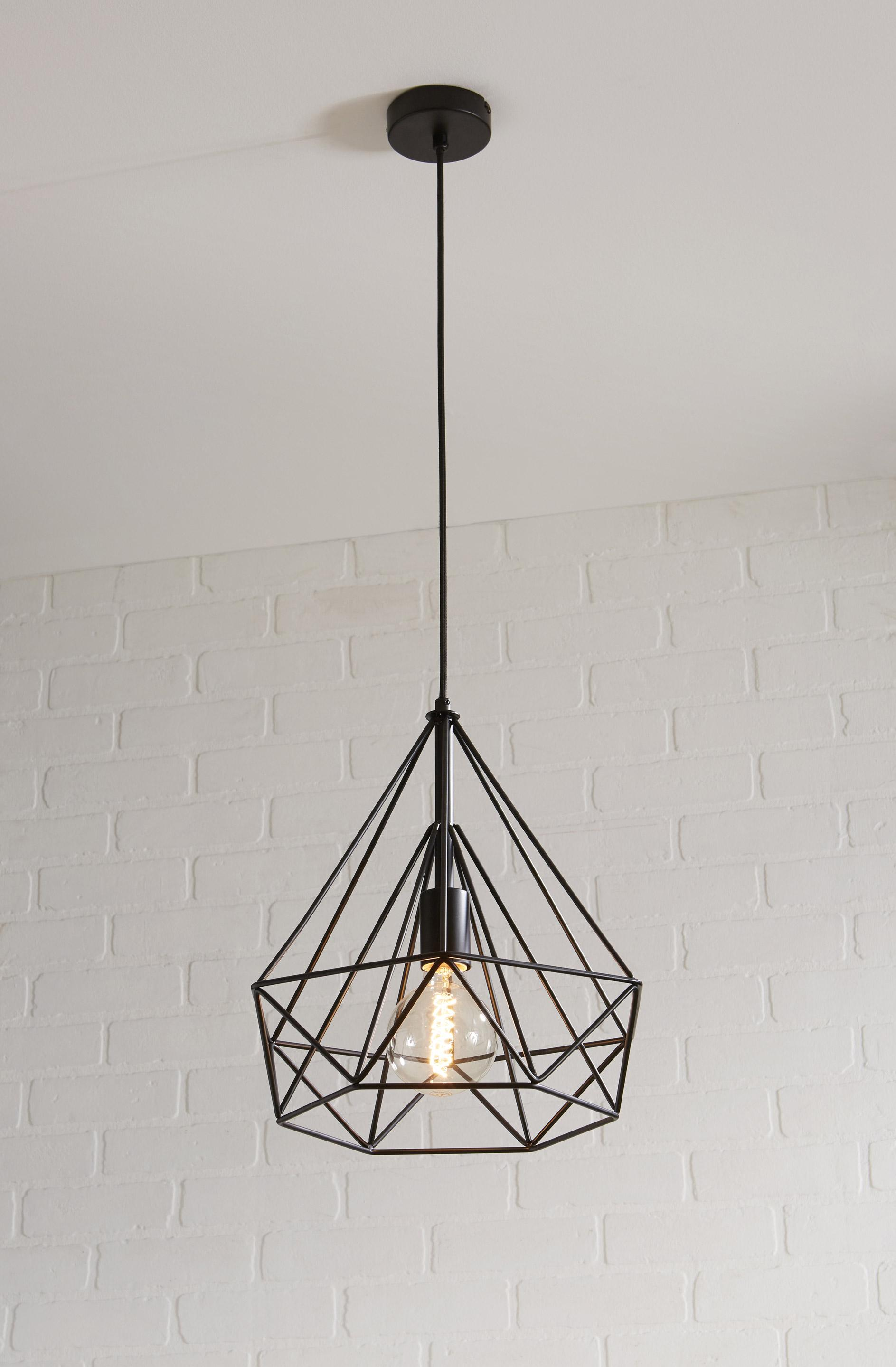 Suspension, e27 design Byron métal noir 1 x 60 W INSPIRE