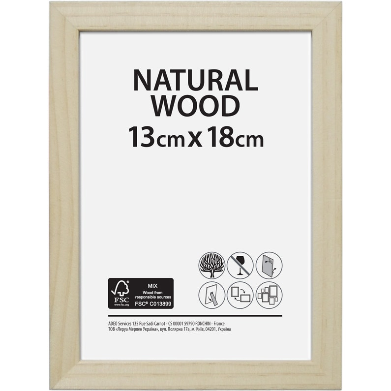Cadre Bois Brut 13 X 18 Cm Naturel