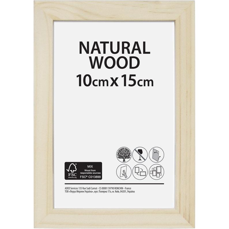 Cadre Bois Brut 10 X 15 Cm Naturel
