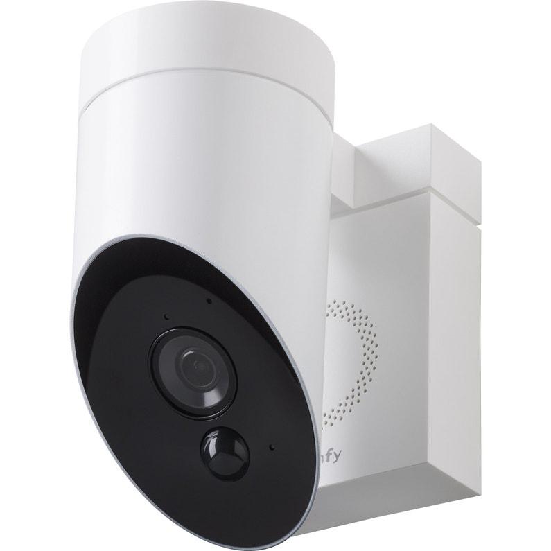 Camera De Surveillance Somfy Exterieure Connectee Sans Fil Blanc Protect Leroy Merlin