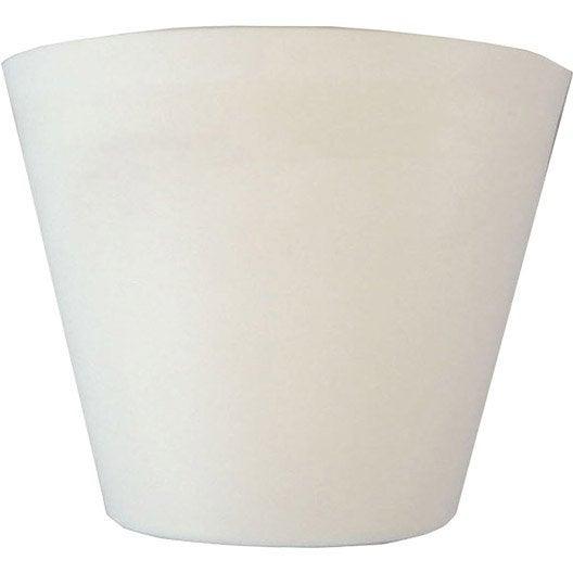 Pavillon conique TIBELEC, plastique, blanc