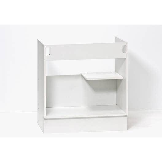 caisson de cuisine sous vier se80 delinia blanc x h. Black Bedroom Furniture Sets. Home Design Ideas