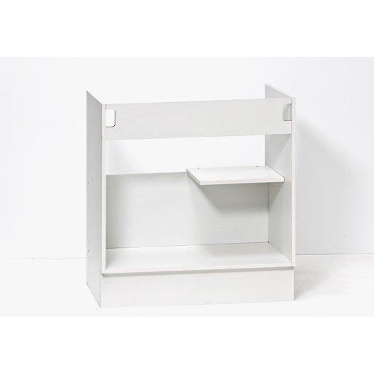 perfect caisson de cuisine sousvier se delinia blanc l x h with meuble cuisine leroy merlin delinia. Black Bedroom Furniture Sets. Home Design Ideas