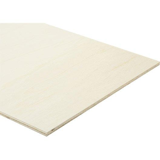 panneau contreplaqu peuplier mm x x cm leroy merlin. Black Bedroom Furniture Sets. Home Design Ideas