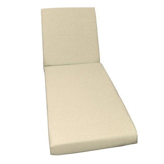 coussin de bain de soleil blanc ivoire lola leroy merlin. Black Bedroom Furniture Sets. Home Design Ideas