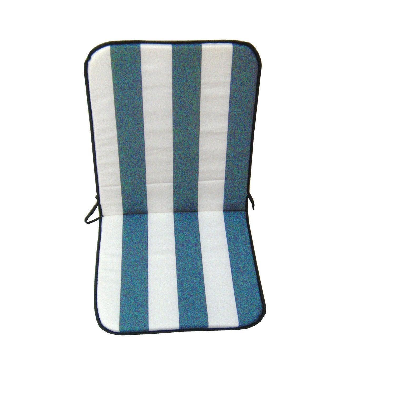 coussin d 39 assise de chaise ou de fauteuil bleu biarritz 89 x 39 cm leroy merlin. Black Bedroom Furniture Sets. Home Design Ideas