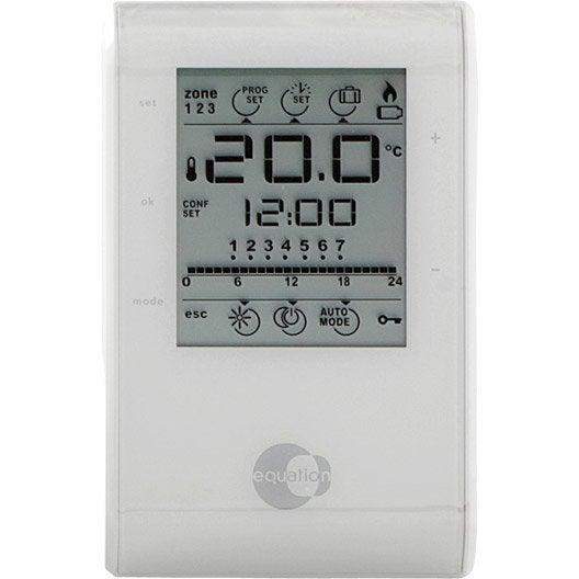 Thermostat et programmateur de chauffage radiateur - Thermostat d ambiance filaire ...