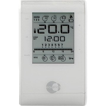 Thermostat d'ambiance filaire EQUATION Confort crono