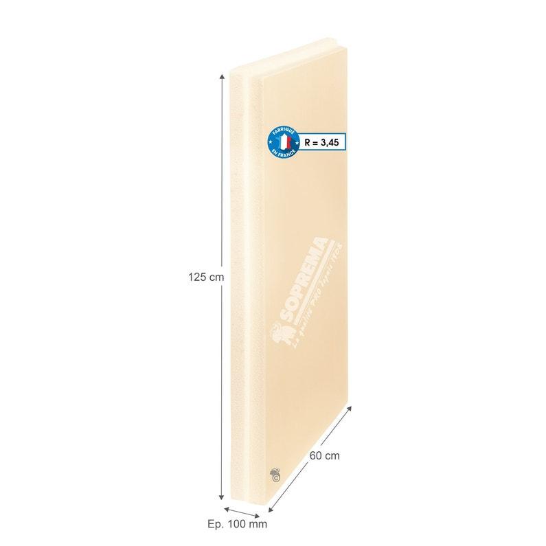 Panneau De Polystyrène Extrudé Soprema 1 25x0 60m Ep 100mm R 3 45