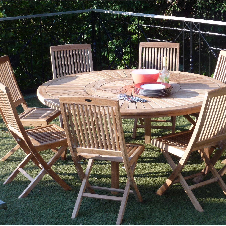 salon de jardin orion bois naturel 8 personnes leroy merlin. Black Bedroom Furniture Sets. Home Design Ideas