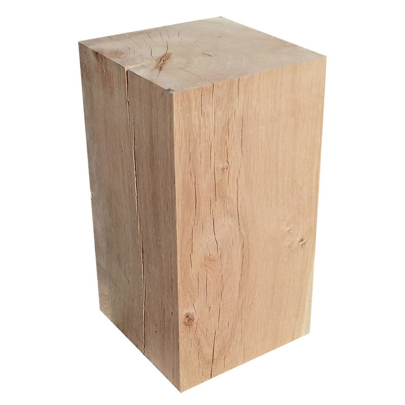 Cube Chêne Massif L24 X L24 X H45cm