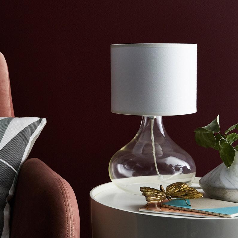 Pied De Lampe Alvarado Acrylique Transparent 23 Cm Inspire