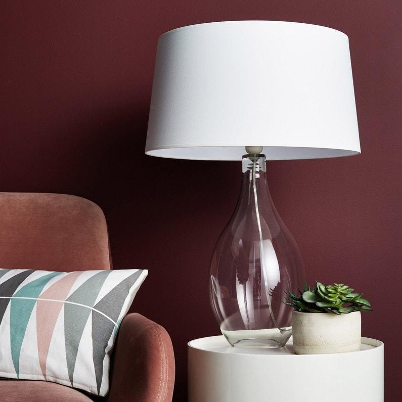 Pied De Lampe Doyle Acrylique Transparent 46 Cm Inspire