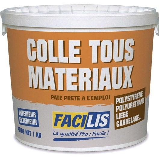 colle pour mat riaux isolants facilis 1 kg leroy merlin. Black Bedroom Furniture Sets. Home Design Ideas