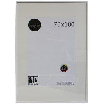 Cadre Lario, 70 x 100 cm, blanc-blanc n°0