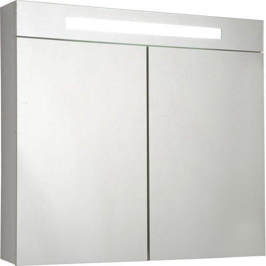 armoire de toilette lumineuse cm blanc telio. Black Bedroom Furniture Sets. Home Design Ideas