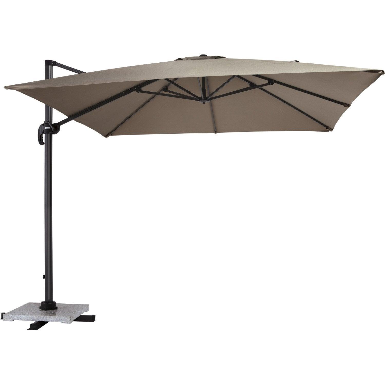 parasol d port roma taupe carr x cm leroy merlin. Black Bedroom Furniture Sets. Home Design Ideas