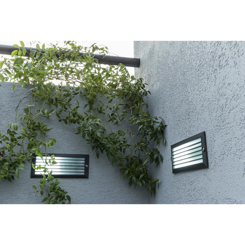 Spot encastrer ext rieur flint fonte d 39 aluminium inspire leroy merlin for Spot decoratif exterieur