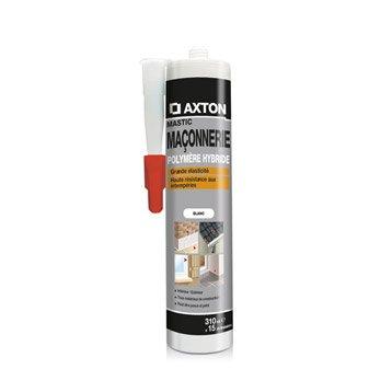 Mastic d'étanchéité AXTON maçonnerie 310 ml blanc