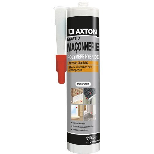 mastic d 39 tanch it axton ma onnerie 310 ml translucide leroy merlin. Black Bedroom Furniture Sets. Home Design Ideas
