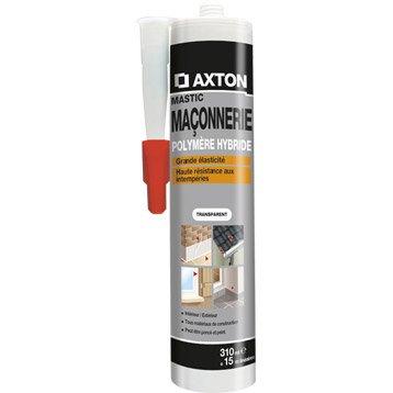 Mastic d'étanchéité AXTON maçonnerie 310 ml translucide
