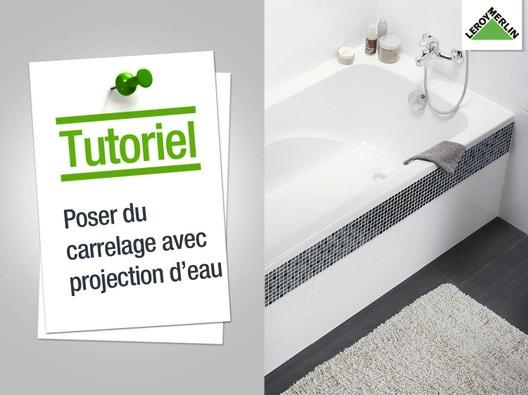 Carrelage sol et mur leroy merlin - Comment poser carrelage mural salle de bain ...