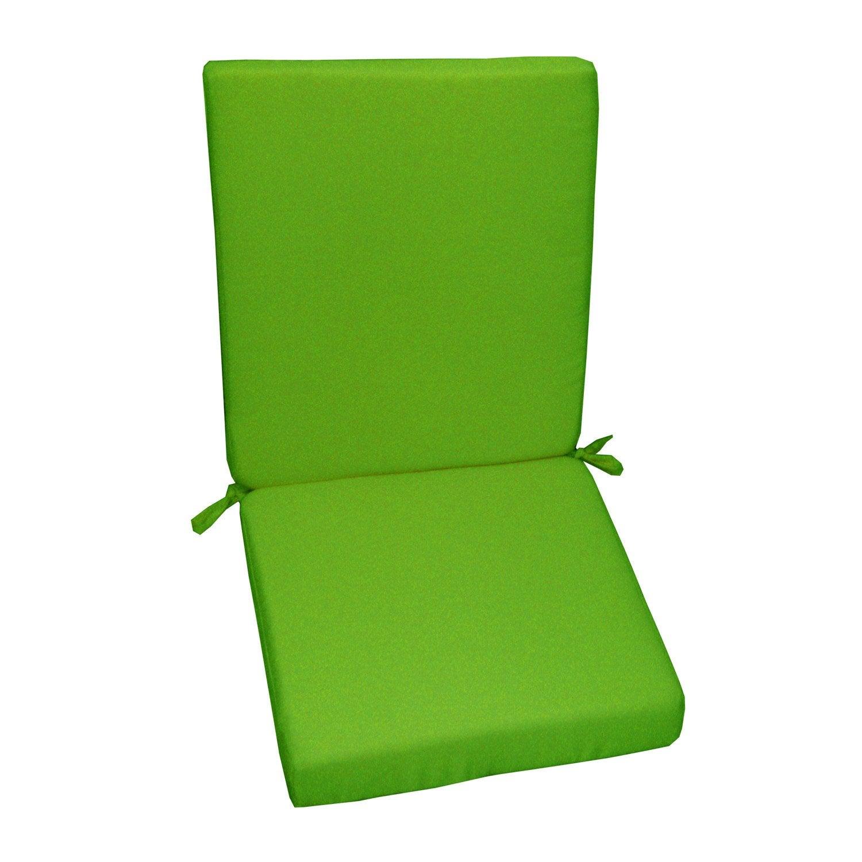 Coussin d assise de chaise ou de fauteuil vert Lola 89 x 40 cm