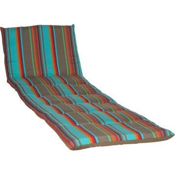 Coussin de bain de soleil multicolore Samba