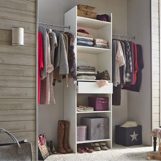 kit dressing blanc modul 39 eco x x cm. Black Bedroom Furniture Sets. Home Design Ideas