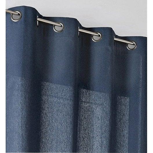 Rideau tamisant, Metis, bleu nuit, l.135 x H.260 cm | Leroy Merlin