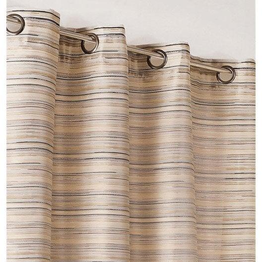 rideau tamisant japon brun beige chocolat et gris argent x cm leroy merlin. Black Bedroom Furniture Sets. Home Design Ideas