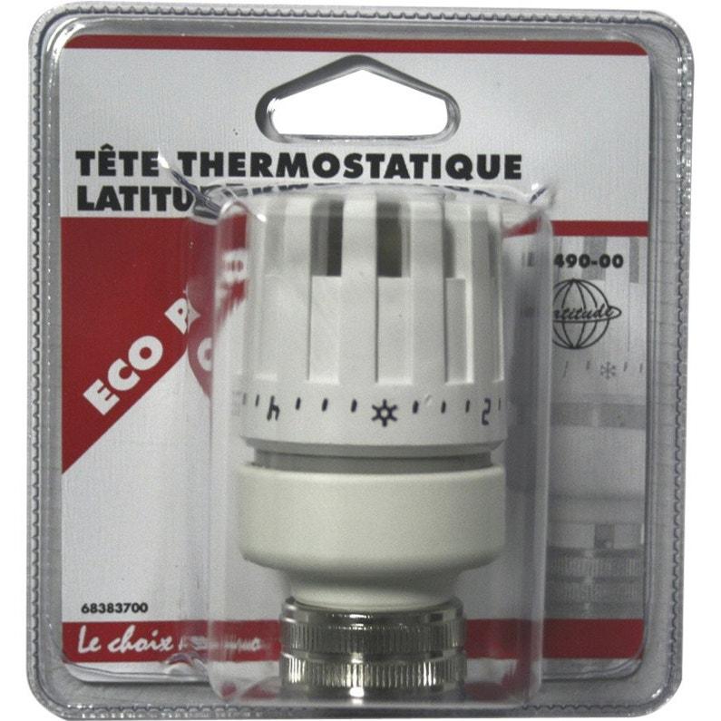 Tête De Robinet Thermostatique Droit Femelle Femelle Laiton Blanc Ecopro