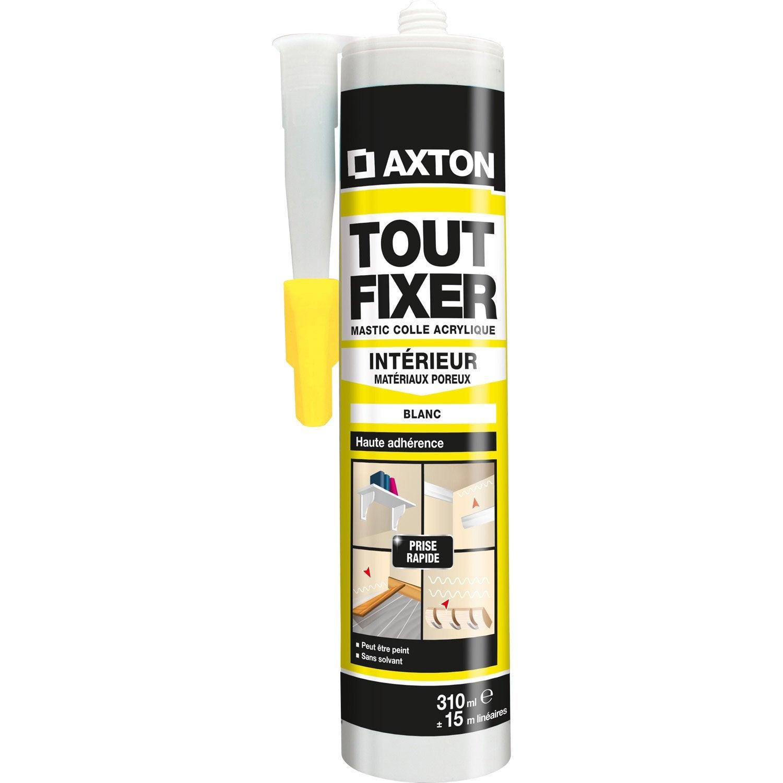 Colle mastic tout fixer axton 310 ml leroy merlin - Comment enlever de la colle forte sur du plastique ...