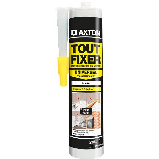 colle mastic tout fixer axton 290 ml leroy merlin. Black Bedroom Furniture Sets. Home Design Ideas