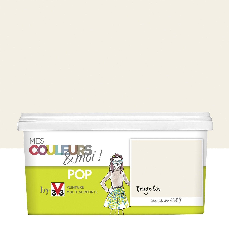 Peinture Beige Lin V33 Mes Couleurs Et Moi Pop 2 5 L Leroy Merlin