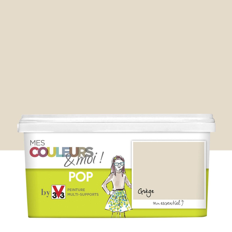 peinture beige grège v33 mes couleurs et moi pop 2.5 l | leroy merlin