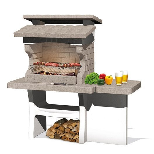 Barbecue fixe barbecue b ton barbecue en pierre au - Barbecue beton pas cher ...