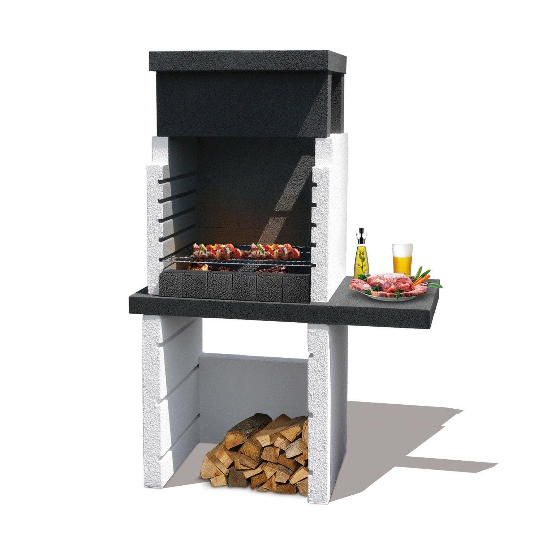 barbecue en b ton gris et noir salvador x x cm leroy merlin. Black Bedroom Furniture Sets. Home Design Ideas