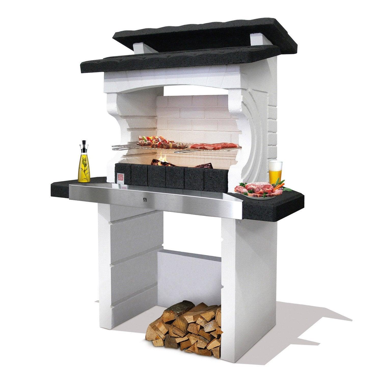 barbecue en b ton gris et noir kos x x cm leroy merlin. Black Bedroom Furniture Sets. Home Design Ideas