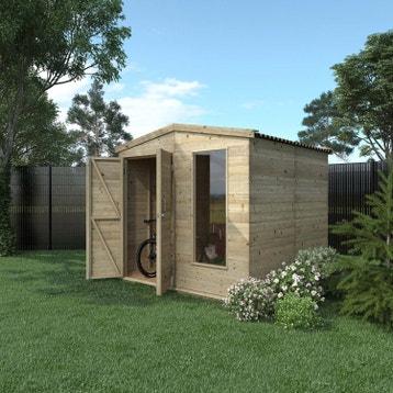 Abri de jardin bois m tal r sine chalet de jardin - Abri de jardin bois autoclave classe 4 ...