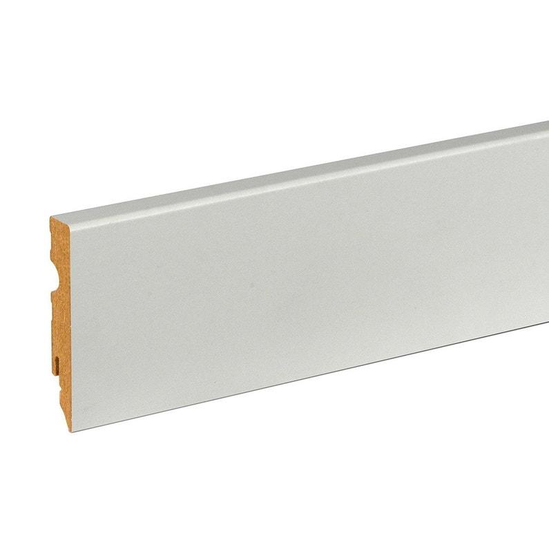 Plinthe Mdf Brut Pour Rail Led 15x80mm L 2m40