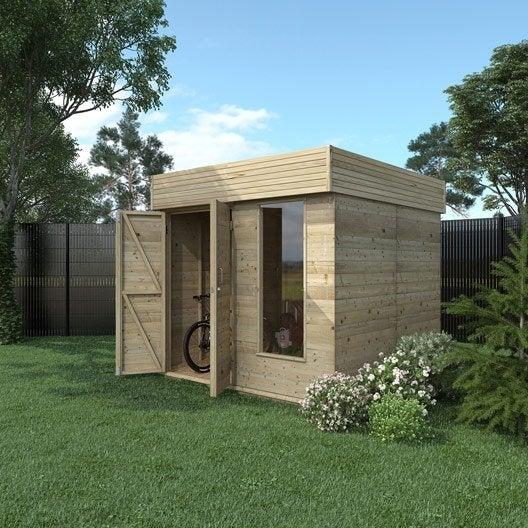 Abri de jardin bois Hutta, 4.8 m² Ep.15 mm   Leroy Merlin