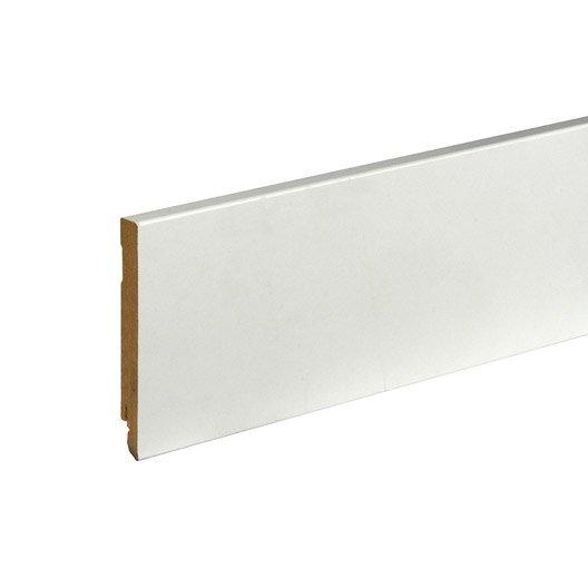 plinthe mdf brut pour rail led 15x120mm l 2m40 leroy merlin. Black Bedroom Furniture Sets. Home Design Ideas
